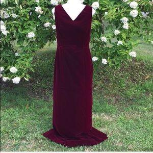 Maggie London velvet evening gown size 10